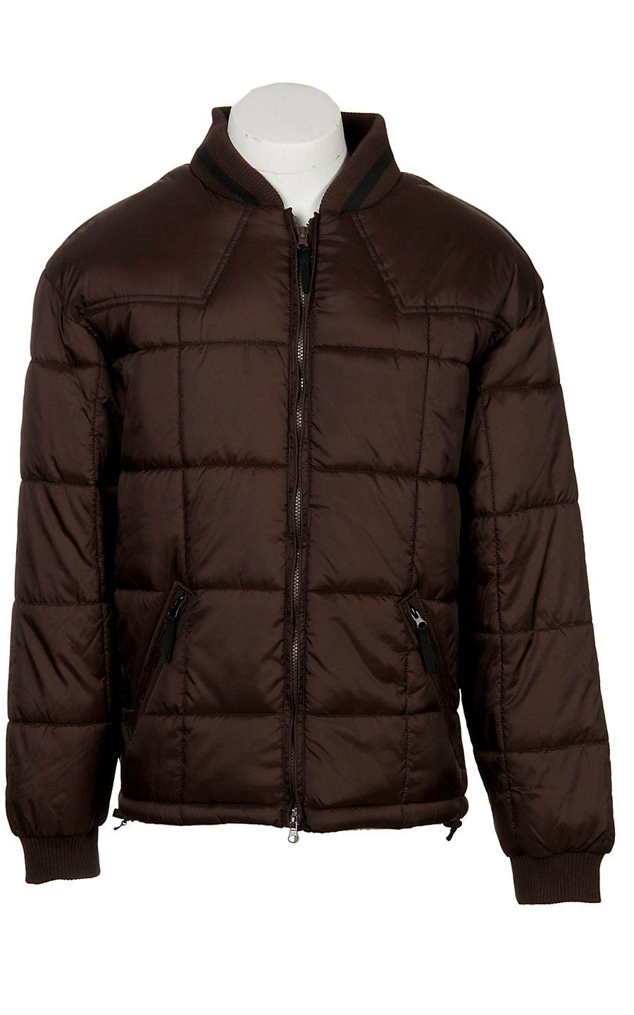 Rafter C Ranchwear Mens Chocolate Brown Polyfill Quilted Jacket Western Jacket Mens Coats Mens Workwear [ 1440 x 900 Pixel ]