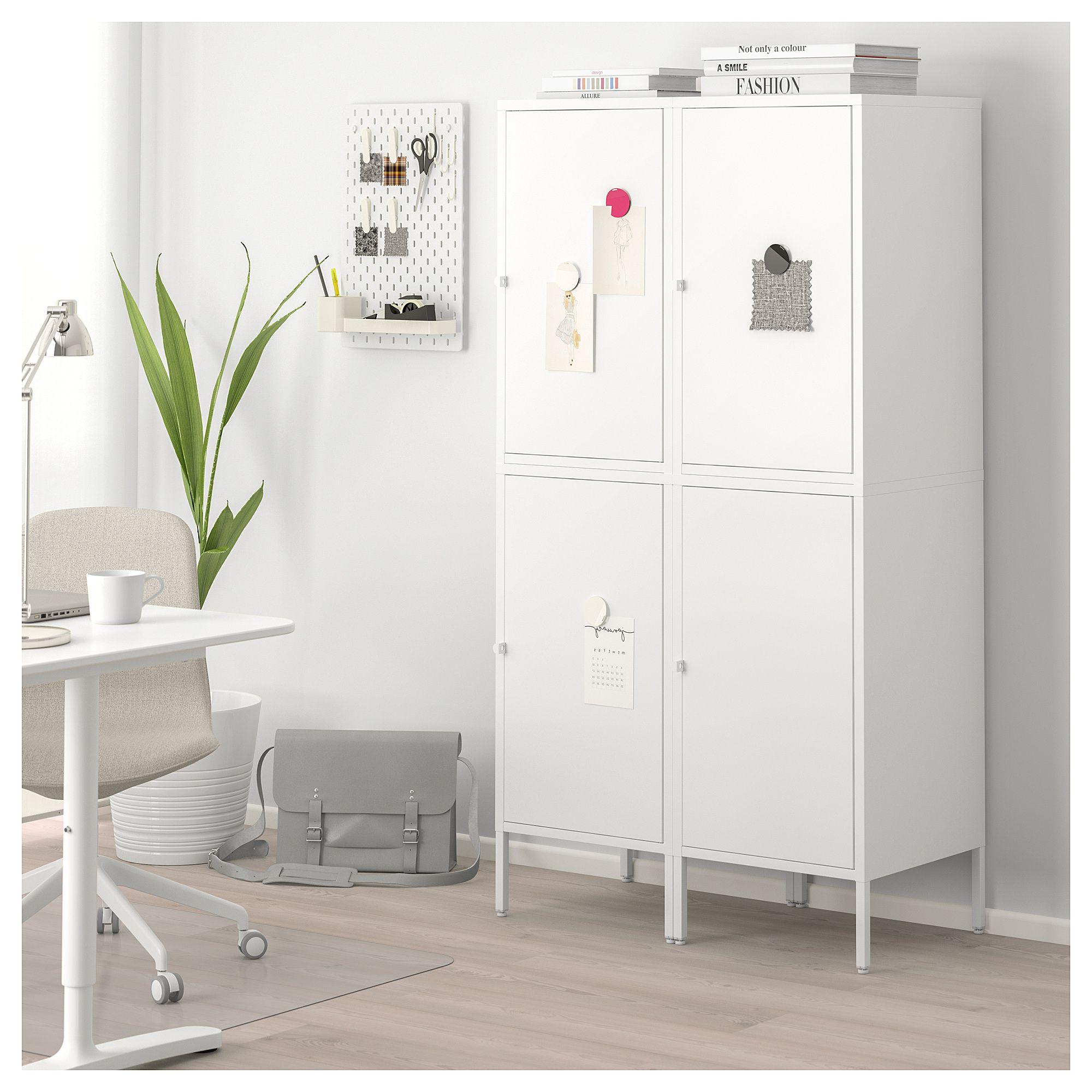Hallan Storage Combination With Doors White 35 3 8x18 1 2x65 3 4