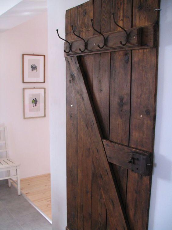 Alte Tür Als Garderobe billig garderobe aus alter tür deutsche deko