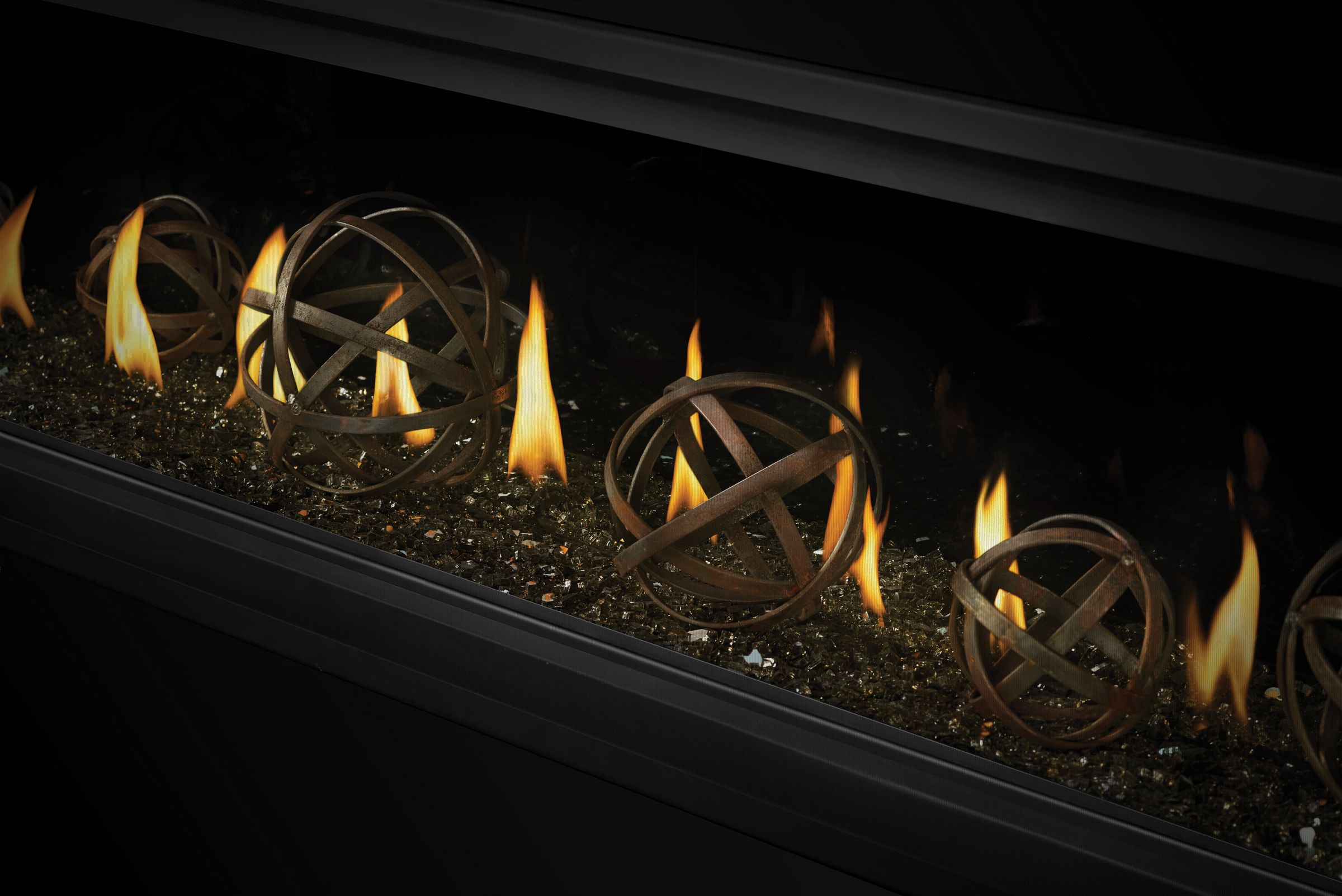 napoleon s luxuriaa series of linear gas fireplaces is perfect for