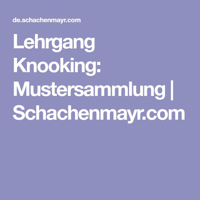 Lehrgang Knooking: Mustersammlung   Schachenmayr.com