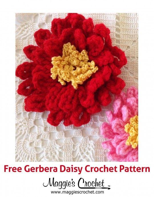 Gerbera Daisy Free Crochet Pattern Hos Pinterest Gerbera