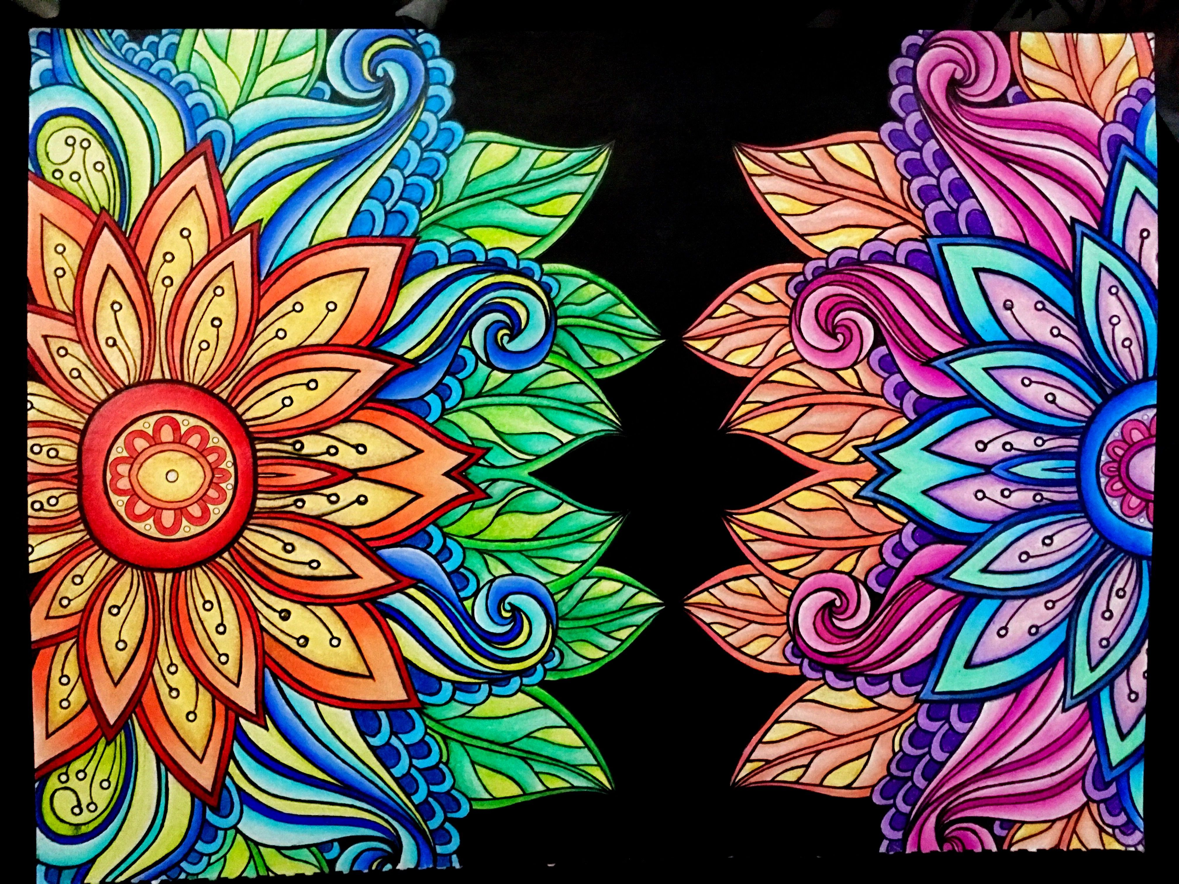 From Kaleidoscope Wonders Color Art For Everyone Colored Pages