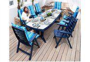 Gartenmöbel-Set »Cannes/Belvedere« in blau (13-tlg.)