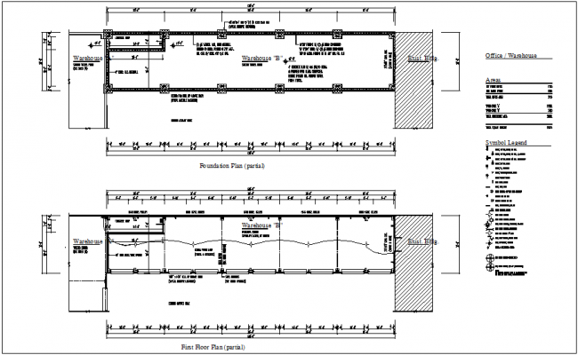 Foundation Plan Of Ware House With Floor Plan Dwg File Floor Plans How To Plan Flooring