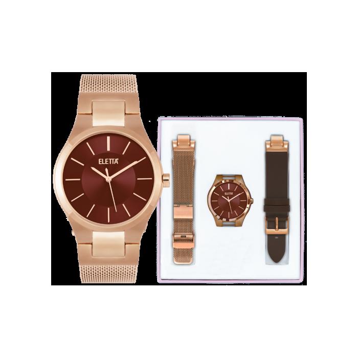 efe46671a16 Relógio Eletta Kit Icon Rose - ELA550LCMRX