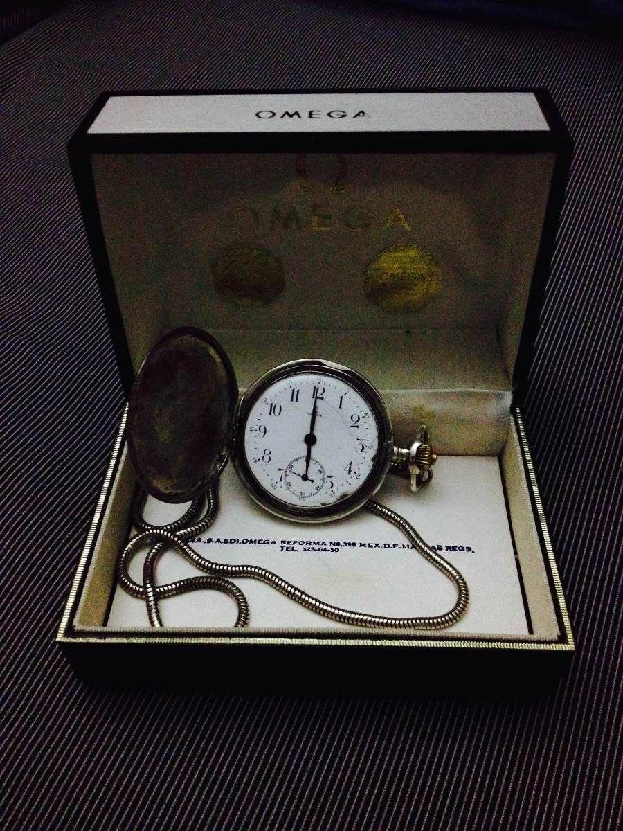 fc75658e1f97 Reloj Bolsillo Omega Plata Antiguo Año 1900 -   14