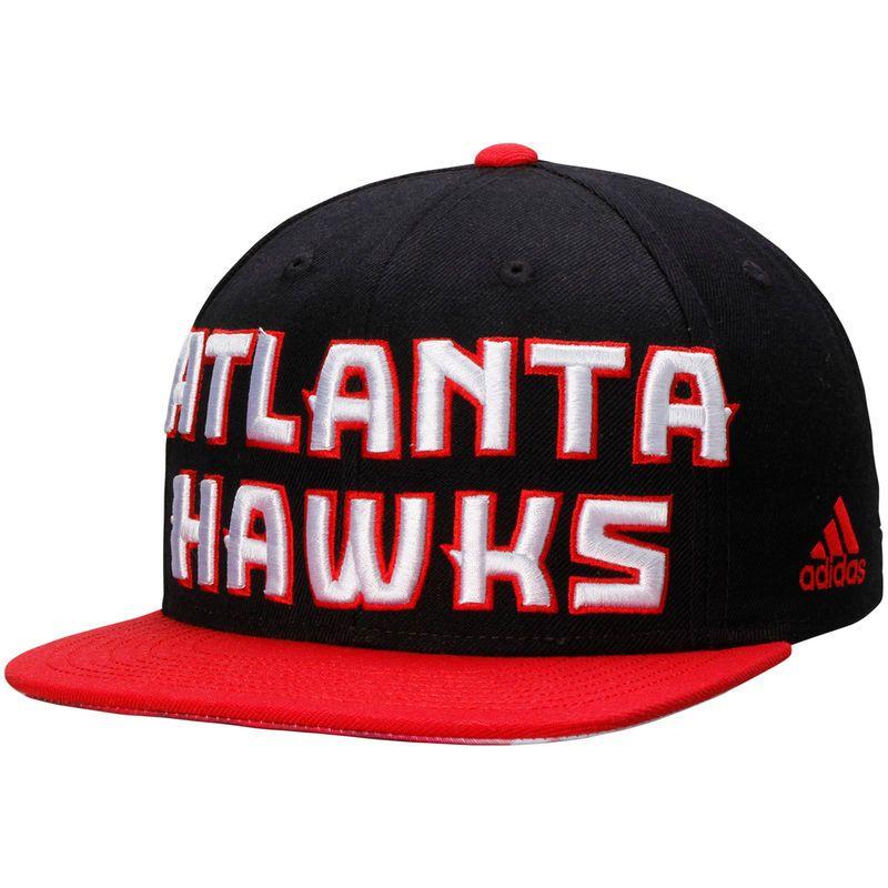new concept 9471e faf6f Atlanta Hawks adidas On Court Snapback Adjustable Hat - Black Red