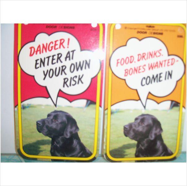Black Labrador Dog Door Sign Double Sided On Ebid United Kingdom