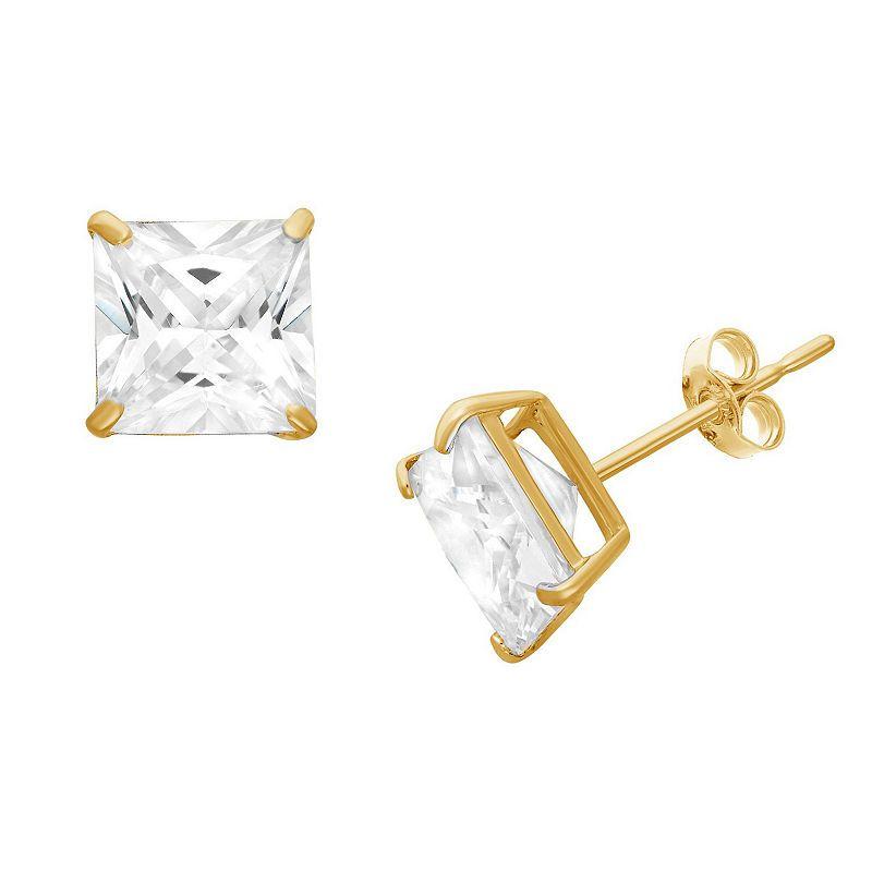 d9291148c Diamonart 3/4 CT. T.W. Princess White Cubic Zirconia 10K Gold Over ...
