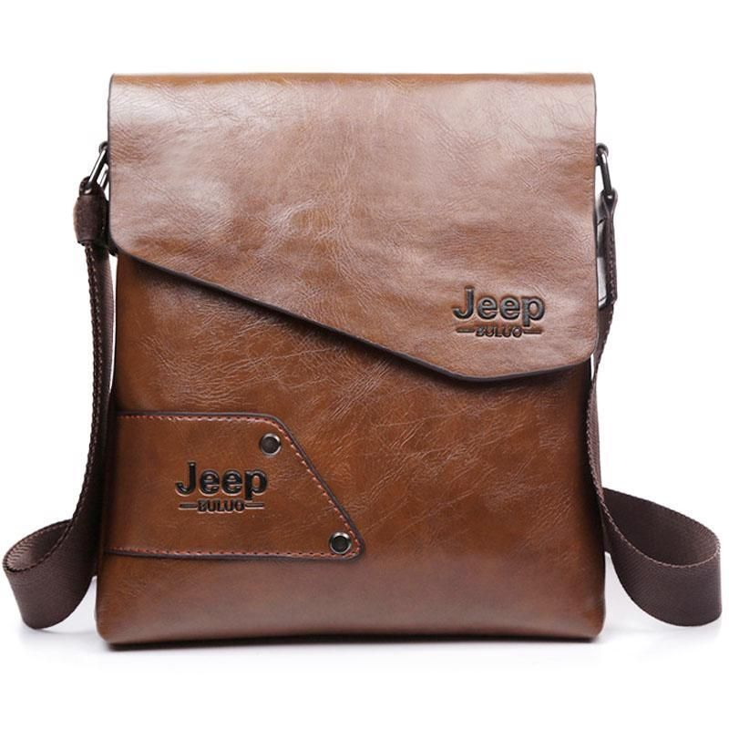 Men s Shoulder Bag JEEP Buluo Casual Leather Messenger Bags Men Luxury  Handbags  newfashionChina  MessengerShoulderBag 7876e5ae79