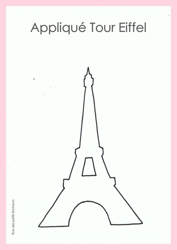 Appliqu couture tour eiffel patron et motif pinterest for Couture a tours