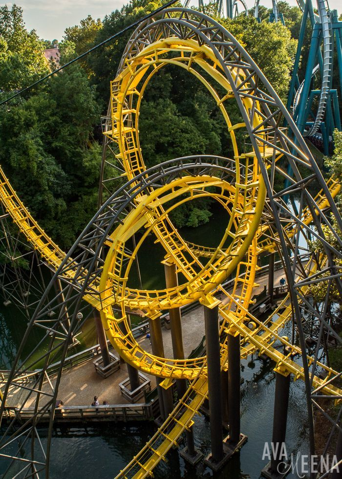 The Iconic Interlocking Loops On Loch Ness Monster Roller Coaster. | Busch  Gardens Williamsburg: Ride Reviews And Tips For Visiting.