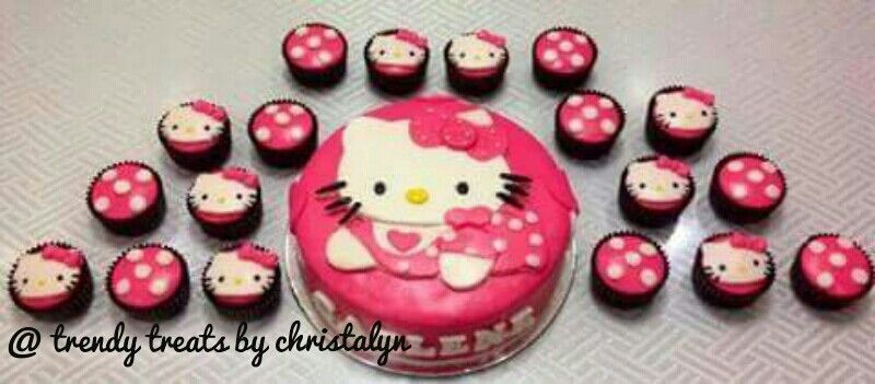 Baby Hello Kitty Cake and Cupcakes