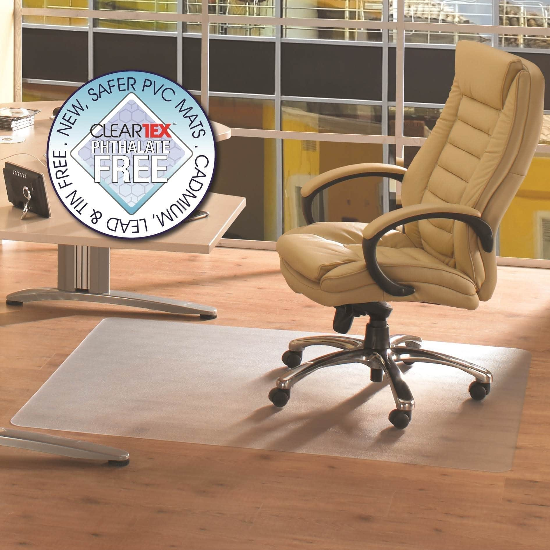 Office Chair Mat 45 X 60 Modern White Chairs Phthalate Free Pvc Rectangular For Hard Floor Size 48 Floortex Chairmat 48x60 Clear
