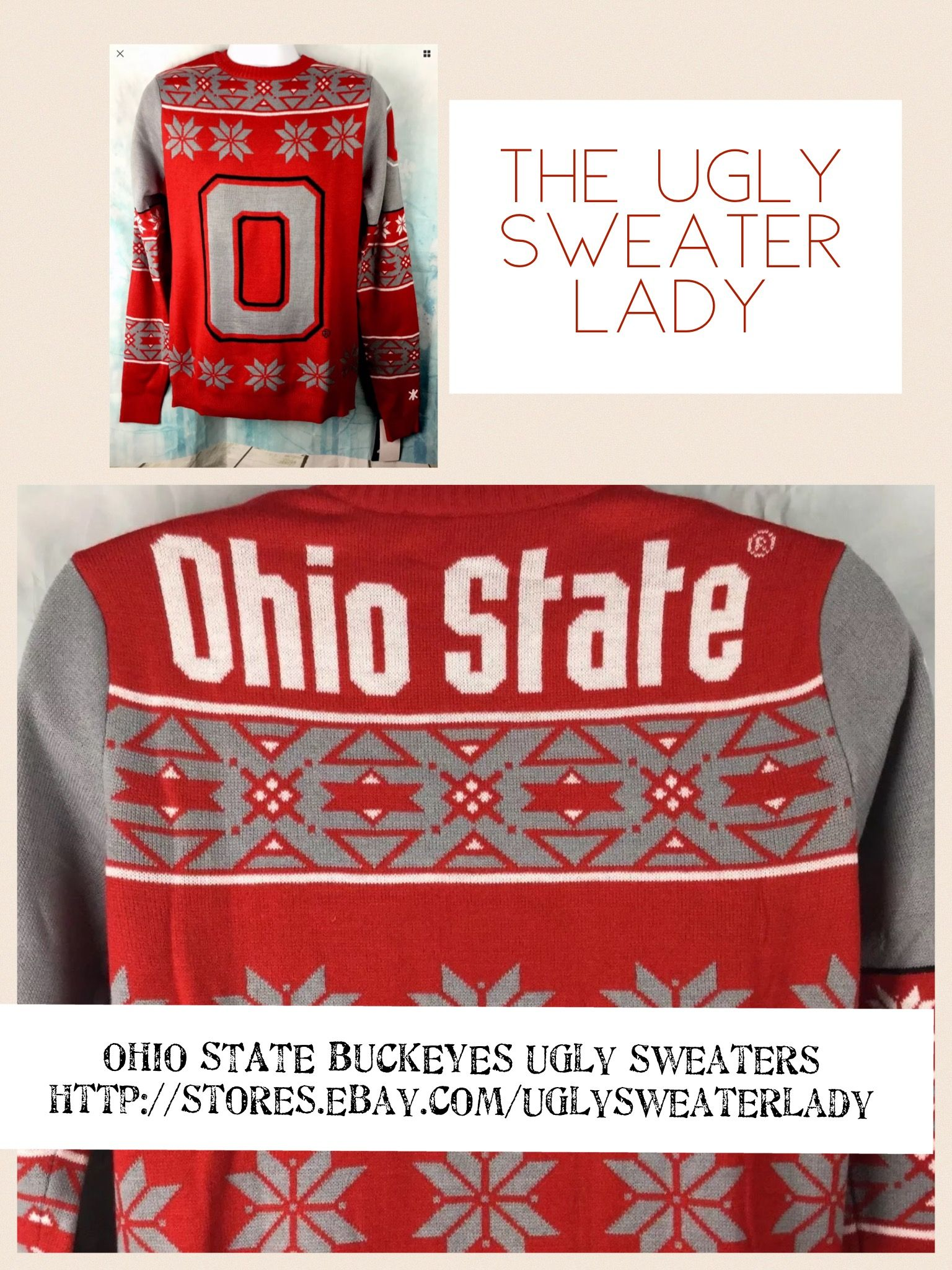 OHIO STATE BUCKEYES Ugly Christmas Sweater | Ugly Christmas Sweater ...