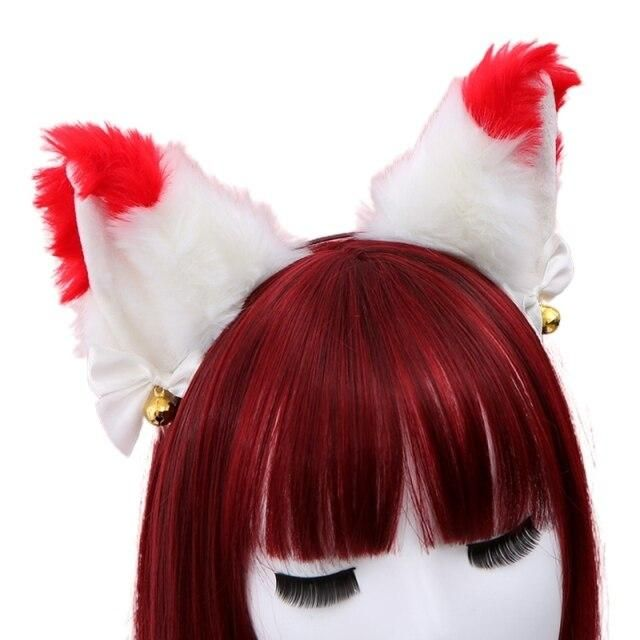 Photo of Women Sweet Lovely Anime Lolita Headband Cute Furry Plush Cat Ears Hair Hoop with Bowknot Small Bells Fancy Dress Cosplay Party – 21