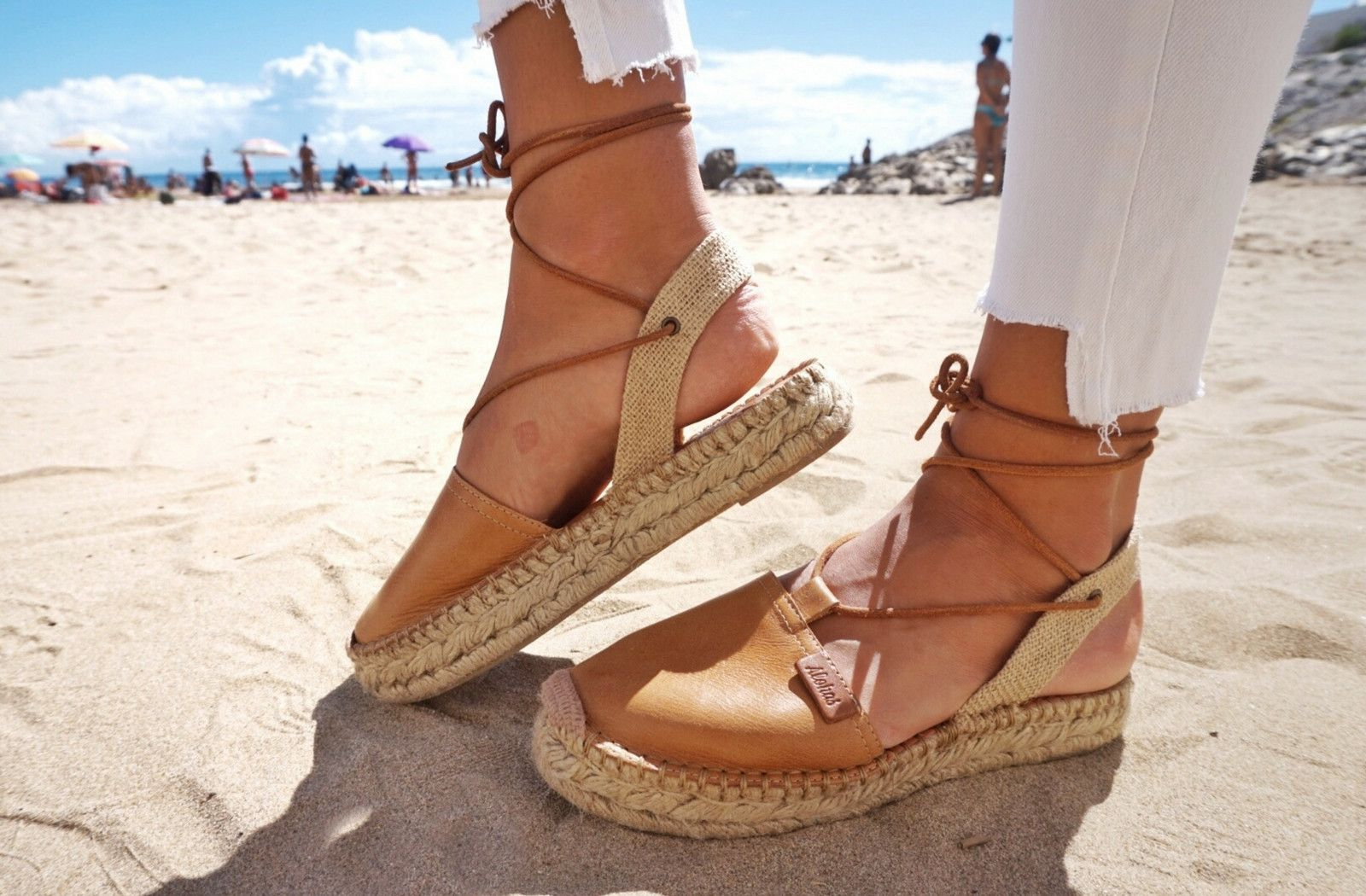 Alohas Sandals, step by step inspiring a fun and sustainable lifestyle.  Handmade platform espadrilles