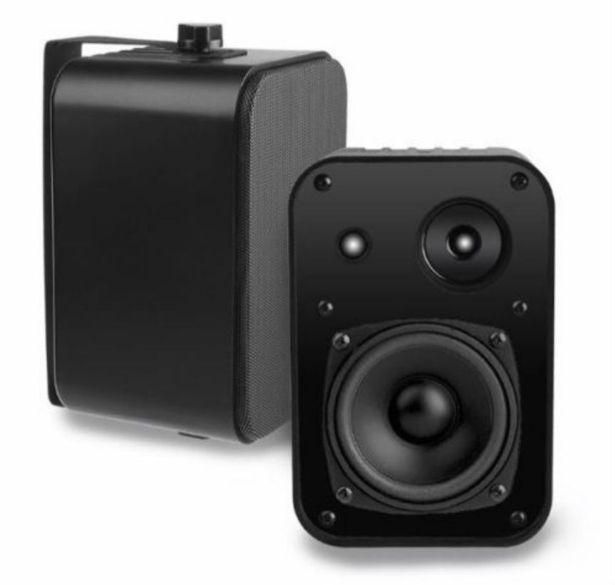 Outdoor Patio Speakers Deck Pool Porch Spa Indoor 80W Clear Premium Sound  Black #AudioOSD