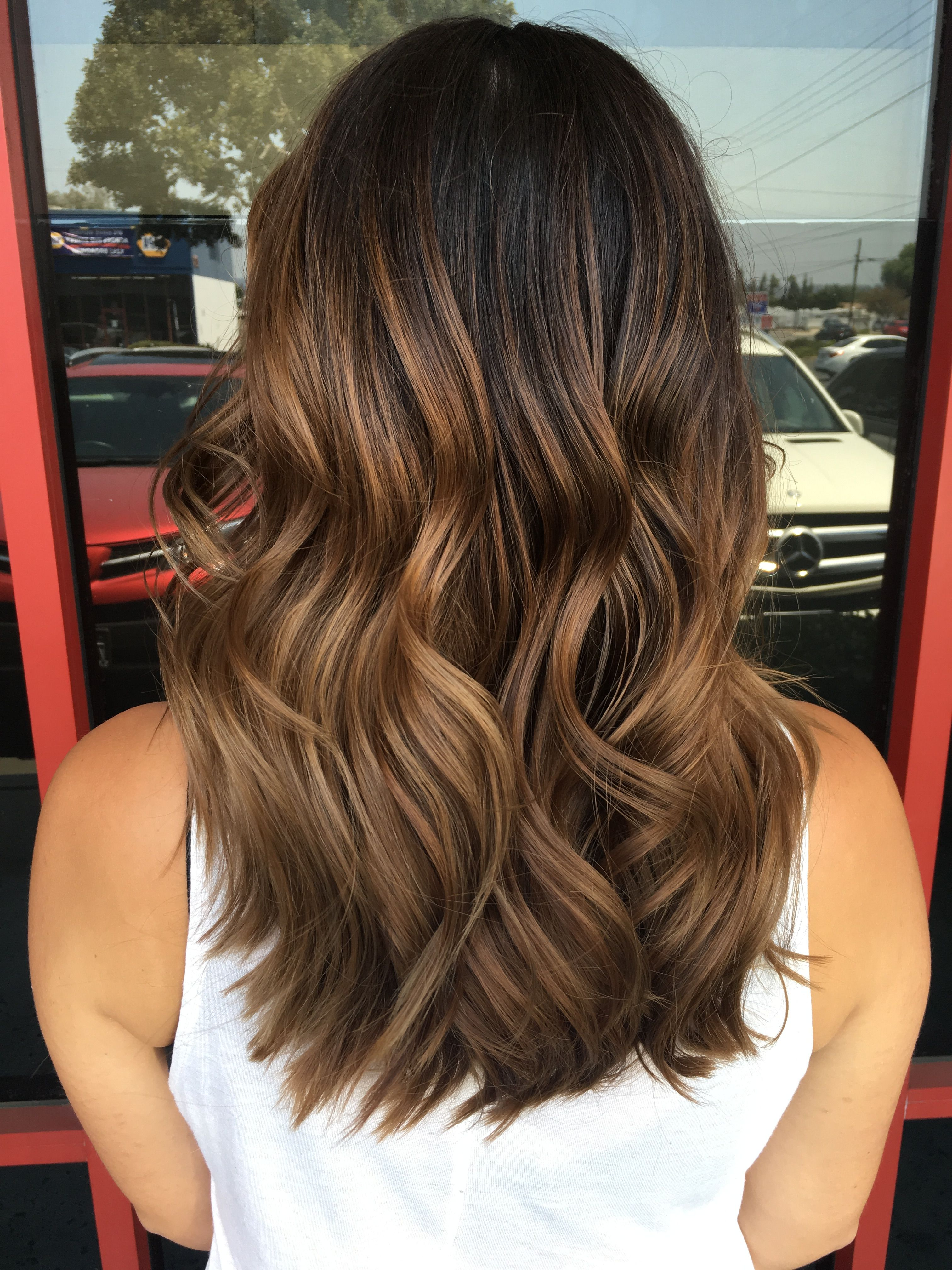 Balayage Hair Balayage Highlights Brown Balayage Hair Highlights Dark Brown Hair Hair Painting Brown Hair Balayage Medium Length Hair Styles Boliage Hair