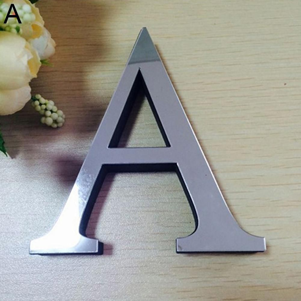 Photo of Fashion English Letters Alphabet DIY Art Mural Home Decor Mirror Wall Stickers – as the picture az
