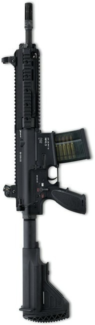 """Heckler and Koch HK417 with 12"""" barrel chambered for 7.62x51mm NATO"""