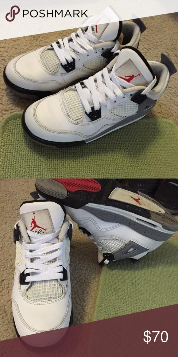 925a7922a9e61a Jordan cements retro 4s. Jordan cements retro 4s. Size 5.5y. Good  condition. Air Jordan Shoes Sneakers