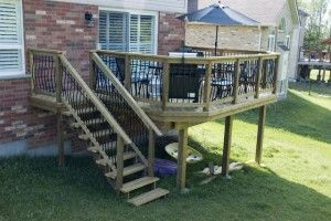 14 Wonderful Deck Stairs With Landing Design Pictures Deck