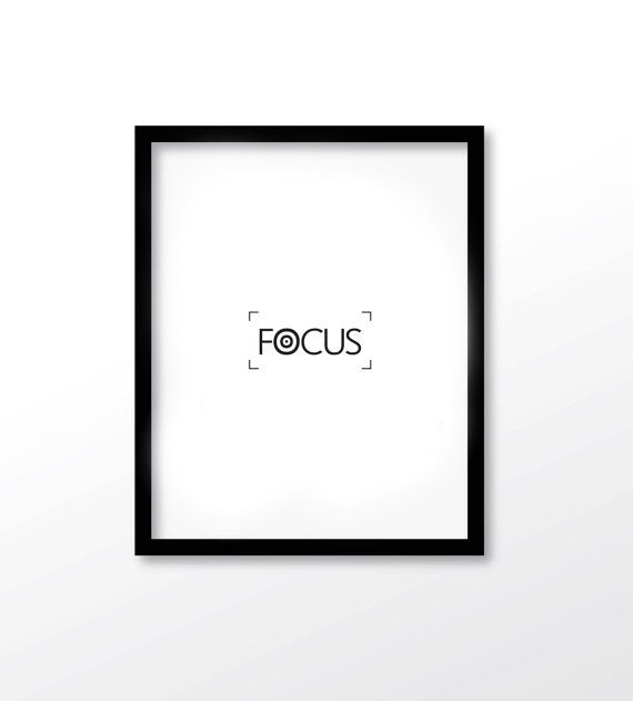 $2.99 Focus Print Focus Printable Office Decor Focus by dadaprintables