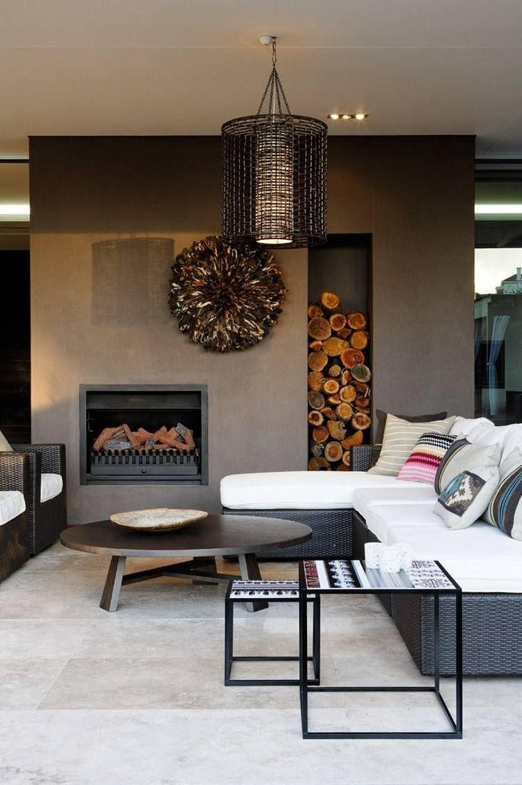 die besten 25 holzkamin ideen auf pinterest kamine. Black Bedroom Furniture Sets. Home Design Ideas