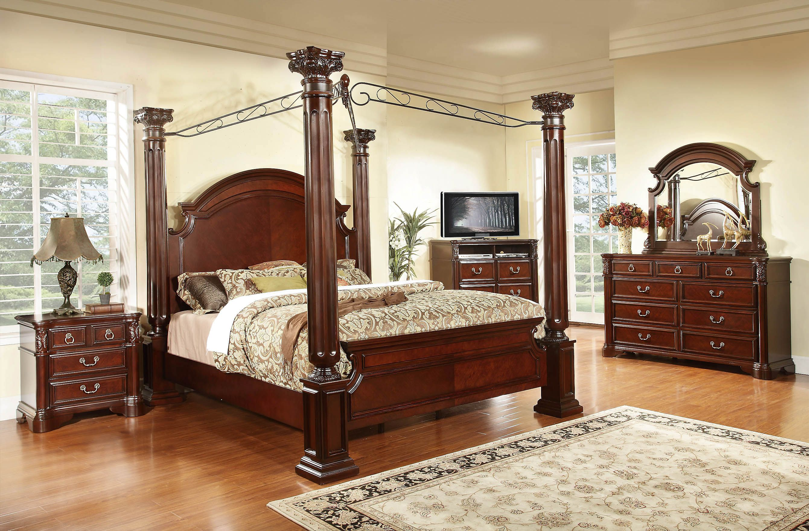 full size canopy bedroom sets Canopy bedroom sets