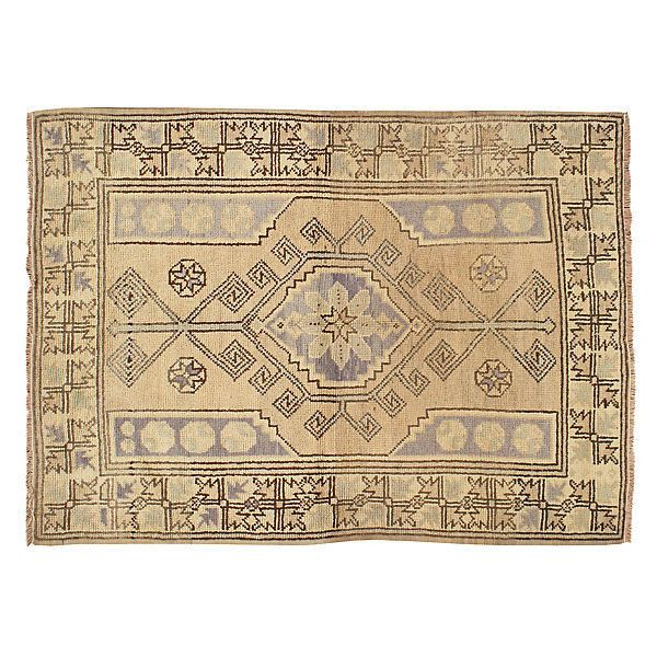 """Pre-Owned Turkish Oushak Rug 4' x 6'5"""" (£715) ❤ liked on Polyvore featuring home, rugs, hand woven rugs, hand loomed wool rugs, wool area rugs, hand woven wool rugs and hand-loomed rug"""