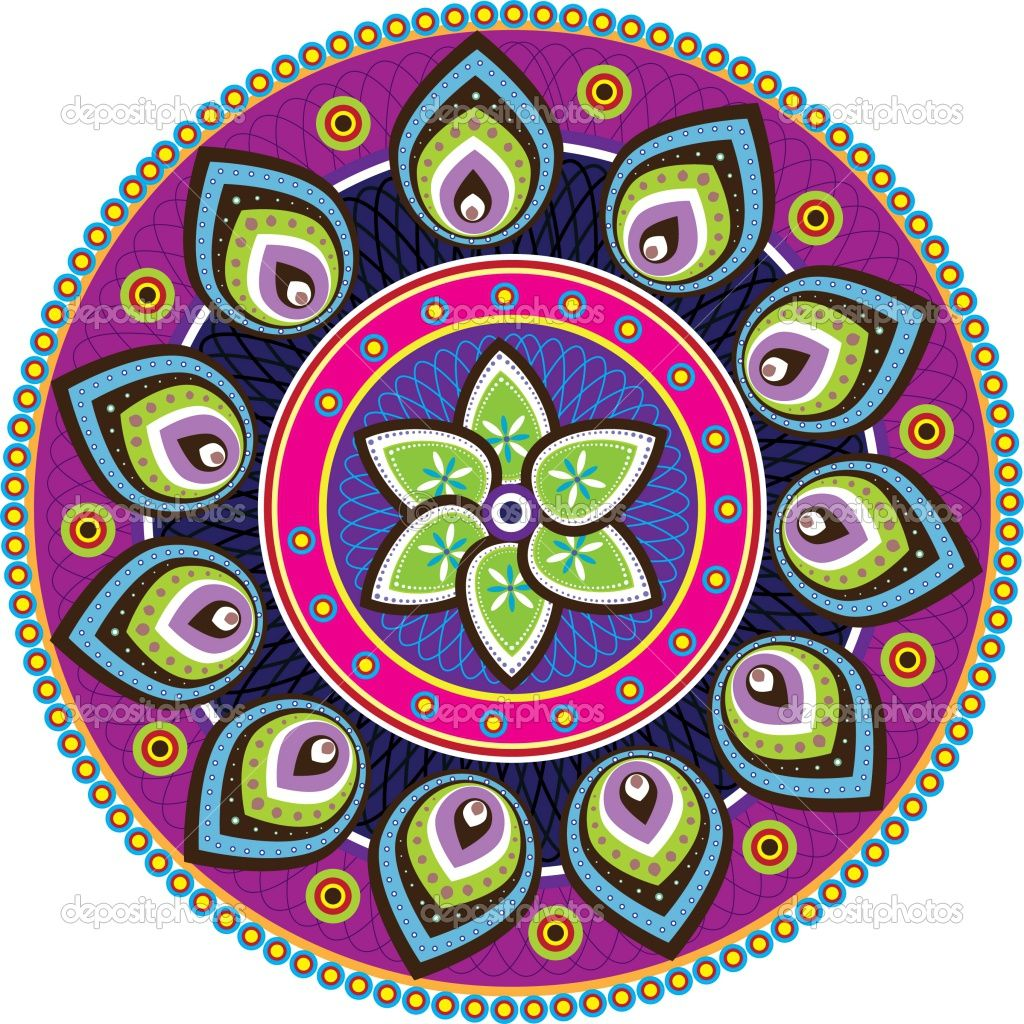 Pin de Deyanira E Figueroa en MANDALAS Indian patterns