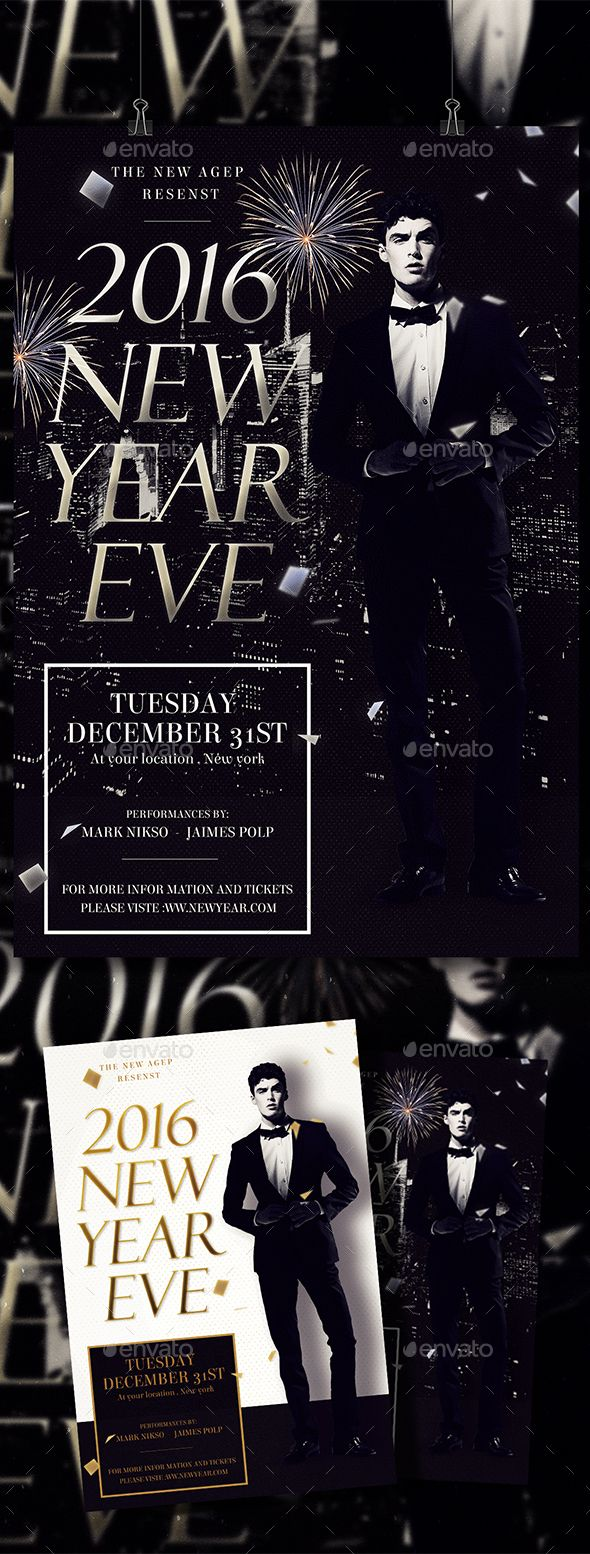 New Years Eve Flyer Template PSD flyer