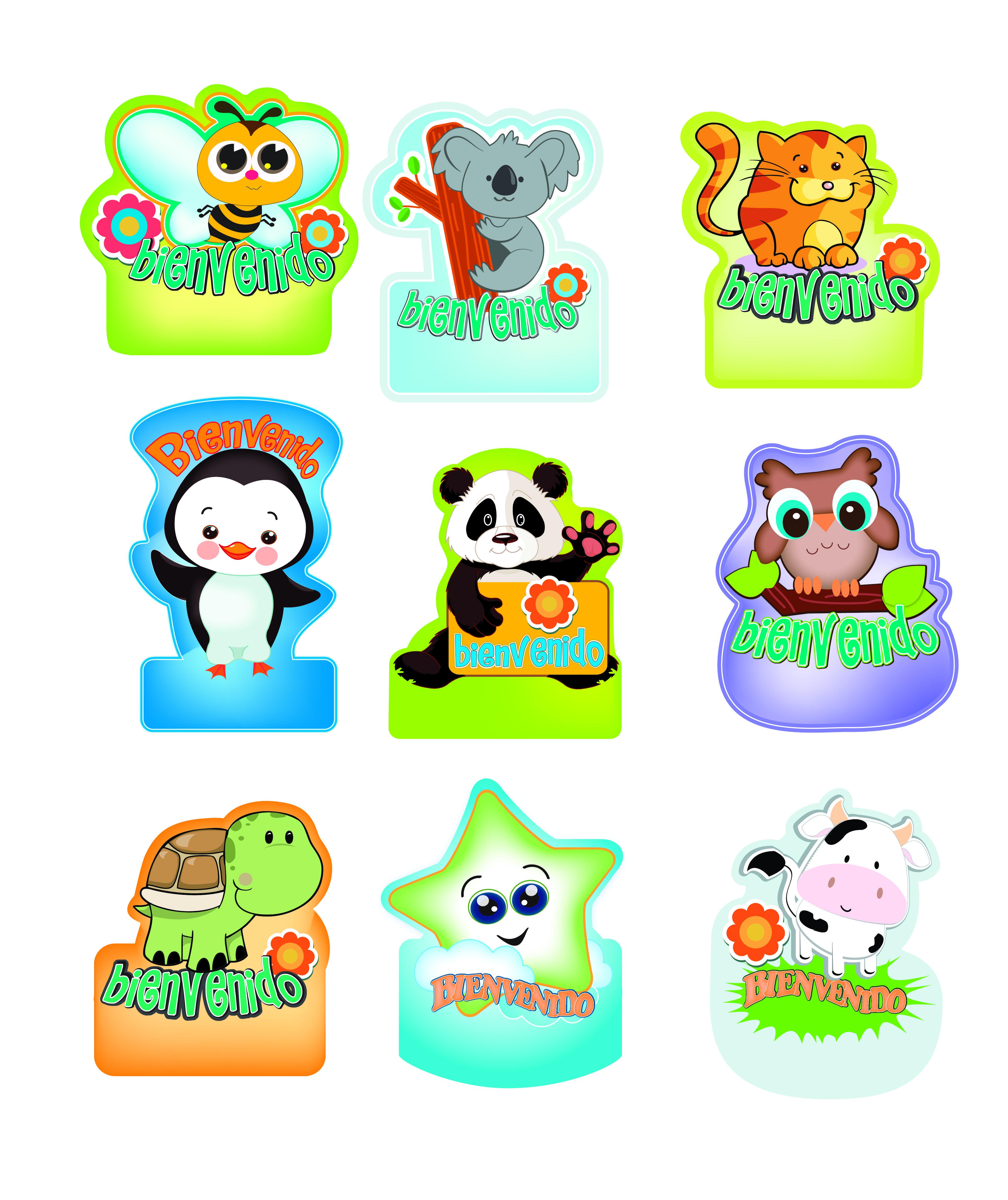 Gafetes de animalitos | Actividades | Pinterest | Búsqueda