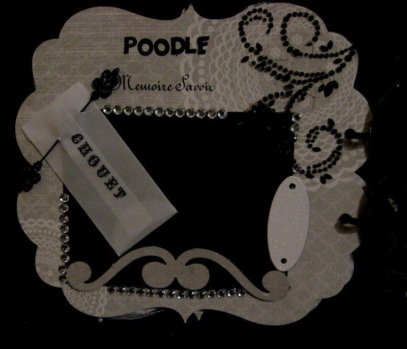 Aloysius thepoodle,  poodle power - Scrapbook.com