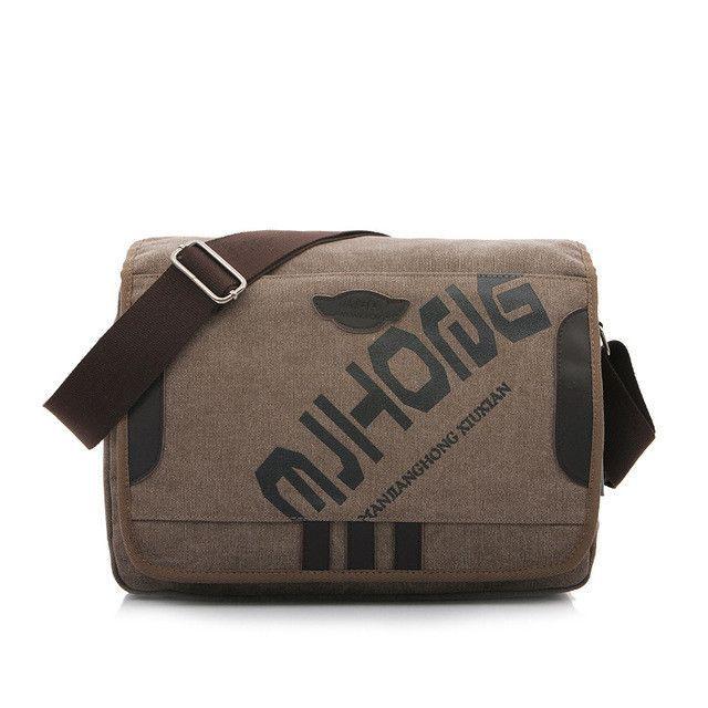 2427b18340f6 MANJIANGHONG Vintage Fashion Men s Shoulder Bag Canvas Messenger Bags Men  Business Crossbody Bag Printing Travel Handbag 1142