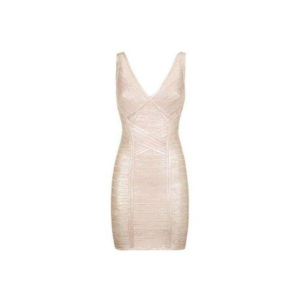 Hervé Léger Briar Metallic Bodycon Dress ($1,310) ❤ liked on ...