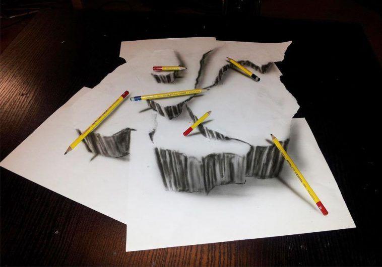 33 Increibles Dibujos Pintados A Mano Que Parecen Reales Dibujos 3d A Lapiz Dibujos 3d Dibujo De Ilusion Optica
