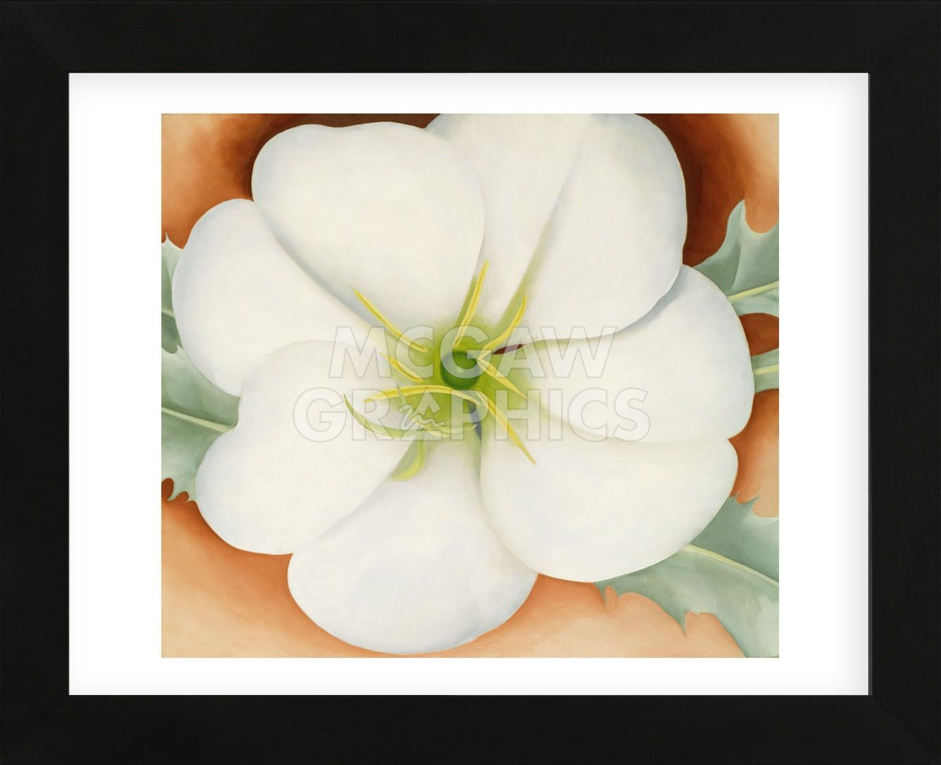 White Flower On Red Earth No 1 1946 Framed Earth Georgia And