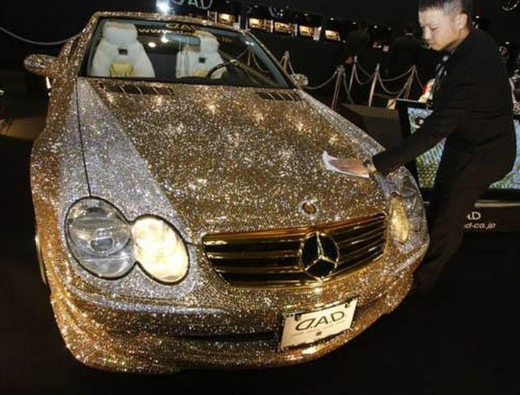 Gold Diamond Car The Is Fully Studded With Diamonds