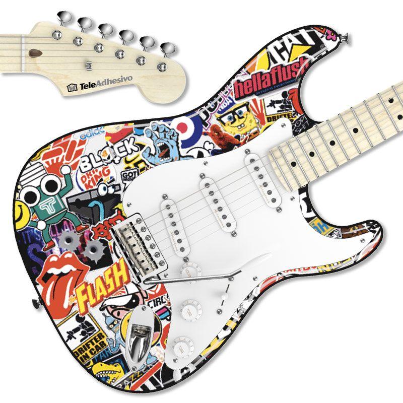 Decora Tu Guitarra Stratocaster Con Pegatinas Vinilos