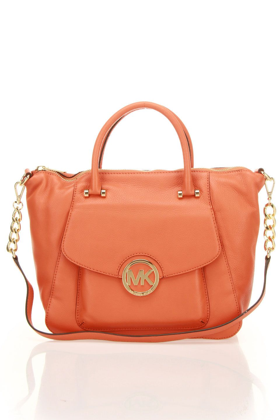 81cc4acc01e6 MK Fulton Large Shoulder Bag In Tangerine  229.99 Michael Kors Handbags  Outlet