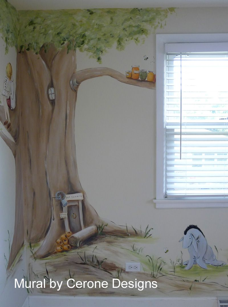 Classic winnie the pooh tree classic winnie the pooh baby for Classic pooh wall mural