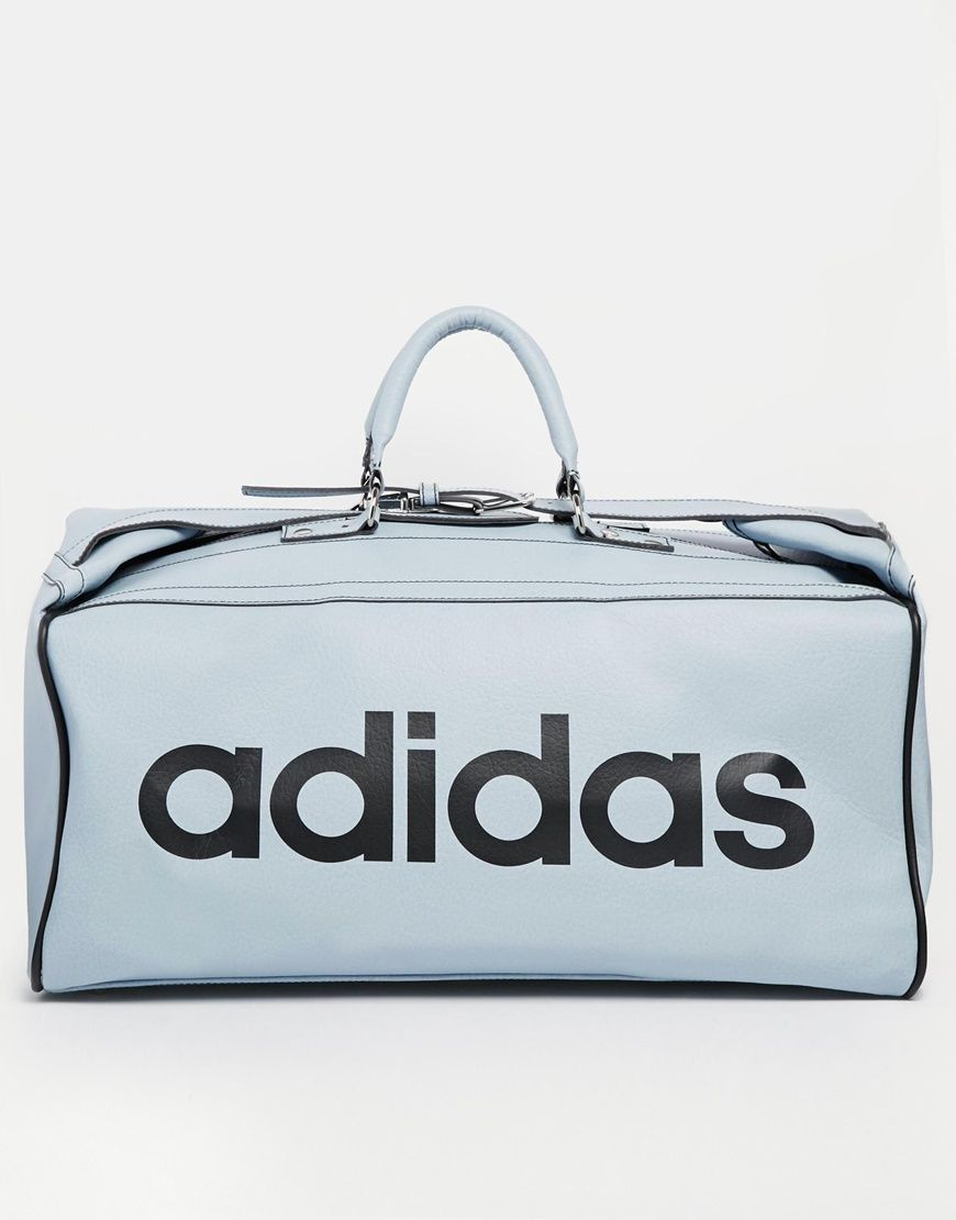 Adidas Originals Teambag Holdall in dust blue (ridiculous