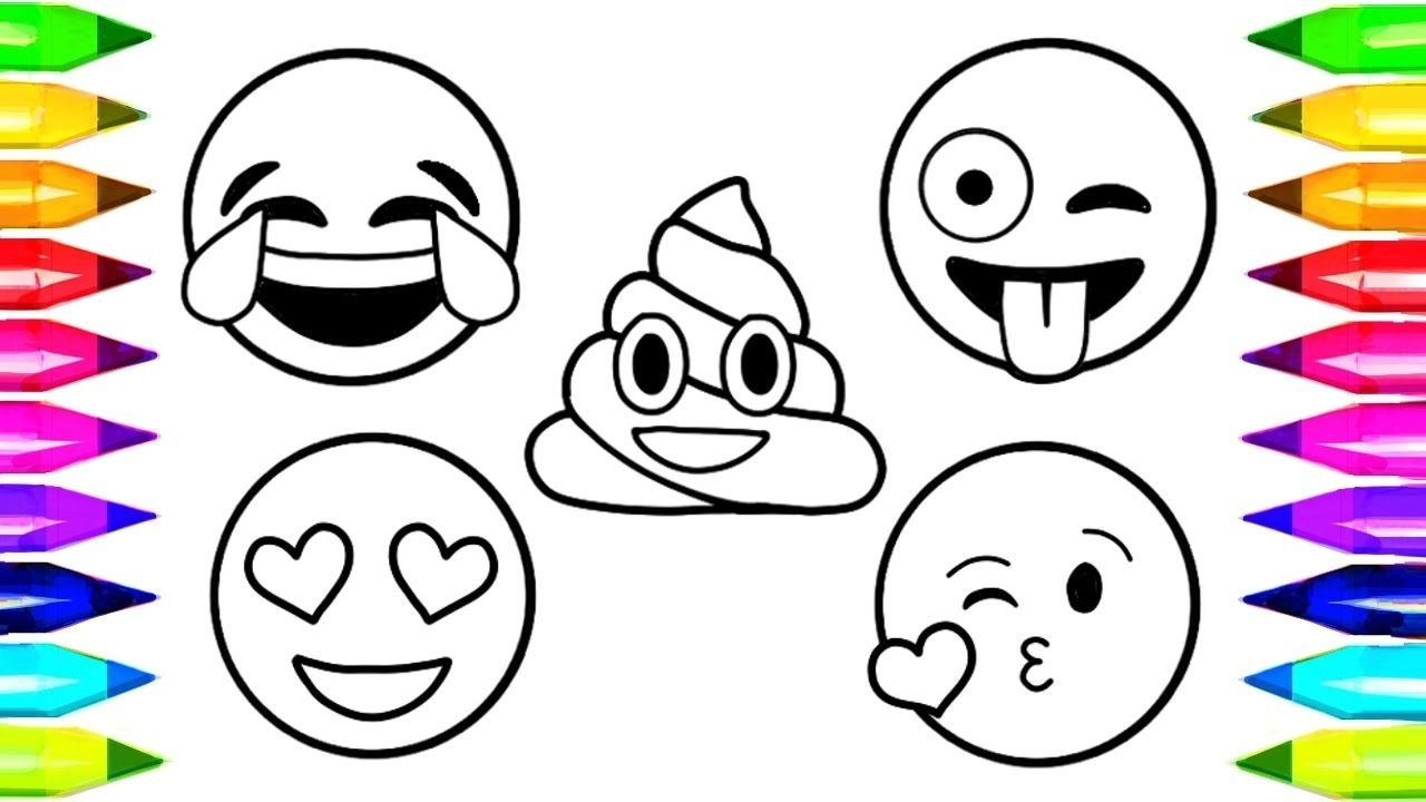 Emoji Coloring Pages Free Cinebrique