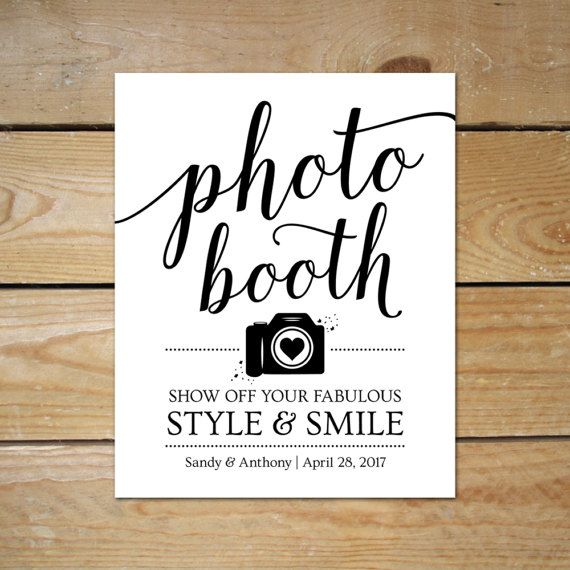 Printable Photo Booth Signs For Wedding Editable Photobooth Sign Diy Template Instant