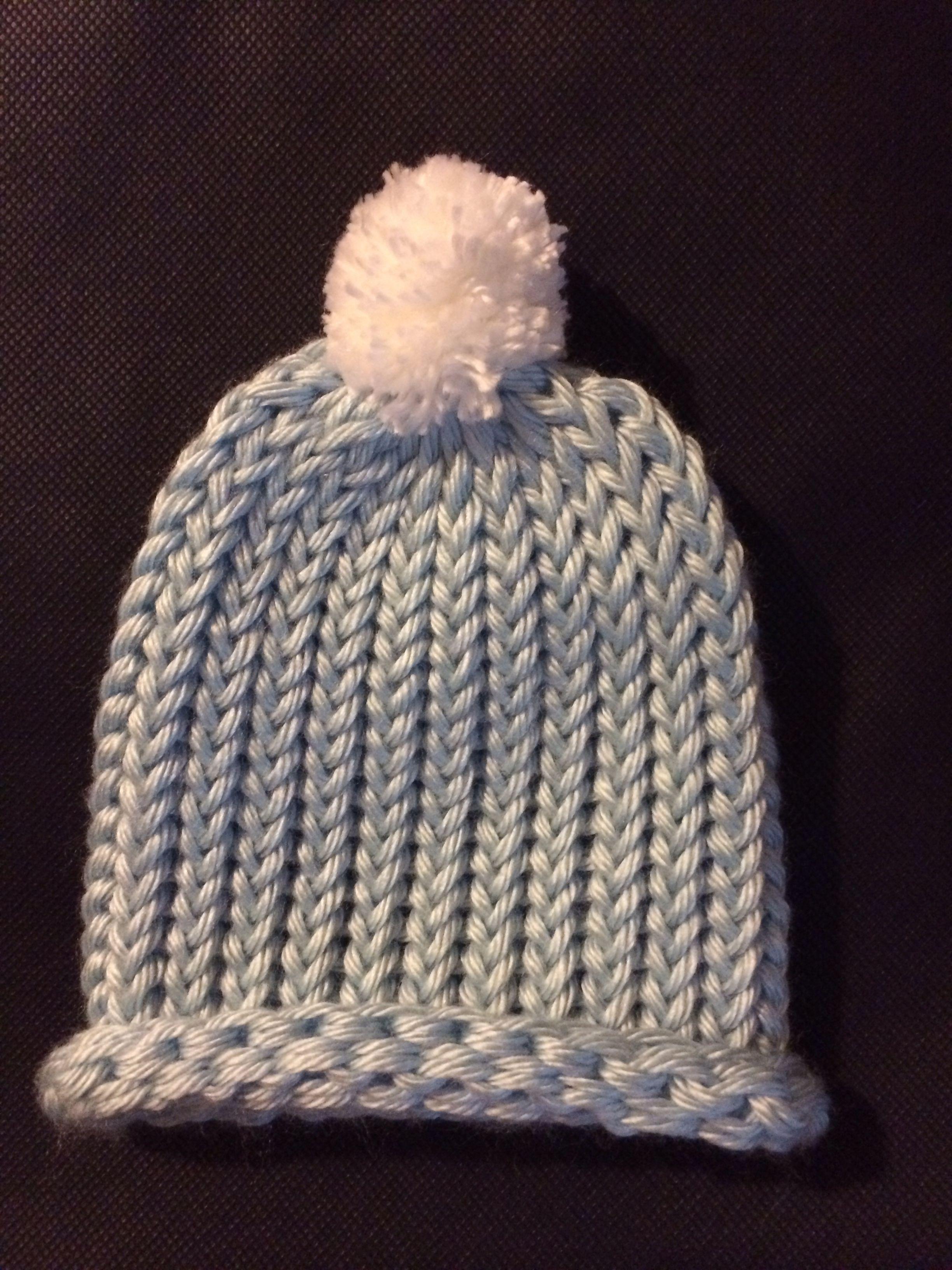 Loom Knitting Project: Baby Boy Hat | Loom knitting, Loom ...