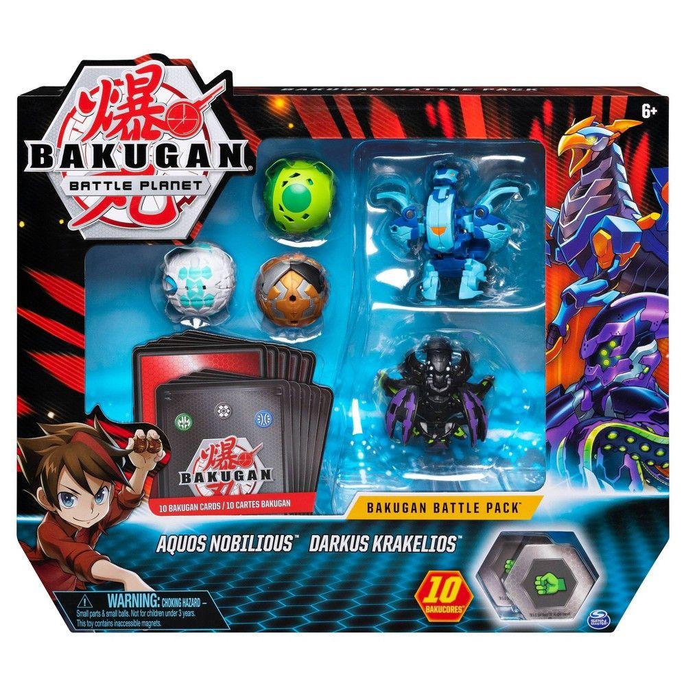 Bakugan Battle Pack 5 Pack Aquos Nobilious And Darkus Krakelios
