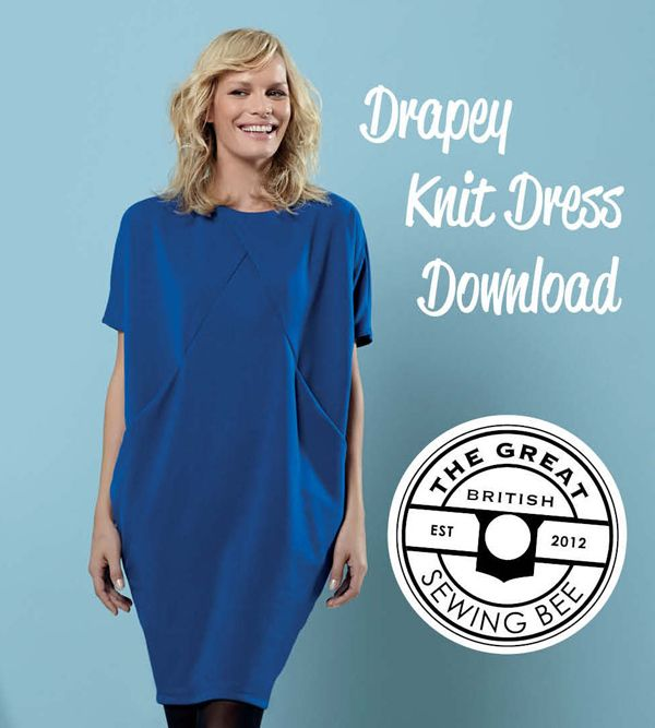 Drapey Dress (free pattern download) from Love Sewing magazine and also in the Great British Sewing Bee series 3 book Fashion with fabric